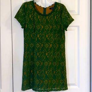 Women's green lace dress